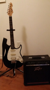 Peavey guitar with amp