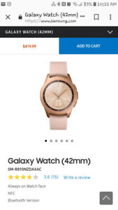 Women's Samsung watch 42 mm bought in January 2019