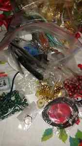 Jewelry and jewelry making supplies nearly 3 pounds. Beads!