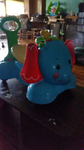 Fisherprice 3 in 1 . Bounce,  stride and ride elephant