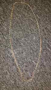 Silver rope style men necklace