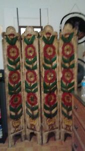 Authentic Hand Craved 1960's Room divider
