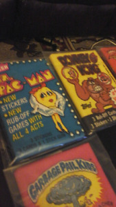 Vintage non sport card unopened wax packs. 1980s lot.