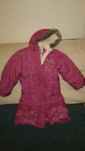 manteau fille rose