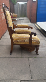 1920s Antique Oak Chair