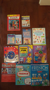 French books, workbooks, educational materials