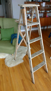Vintage 5 foot wood step ladder