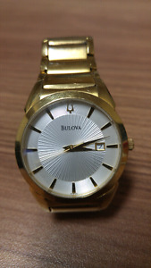 Used Bulova Mens Gold Watch