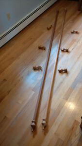Wooden Curtain Rods-104 inches