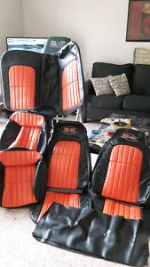 35 TH ANNIVERSARY RARE 2002 CAMARO COMPLETE  LEATHER SEAT COVERS