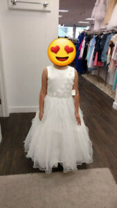 Brand New With Tags.  Girls formal white dress size 14
