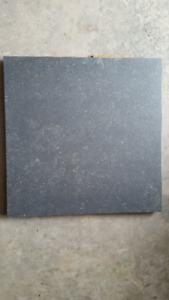 Black/blue ceramic tile