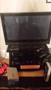 42inch plasma TV with glass stand