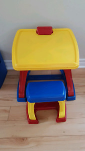 Children's Desk With Stool