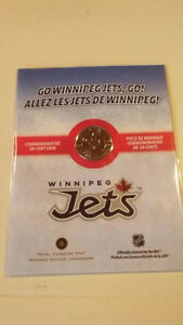 NEW 2011- 2012 WINNIPEG JETS 50 CENT COMMEMORATIVE COIN