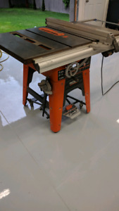"Rigid T3650 10"" table saw"