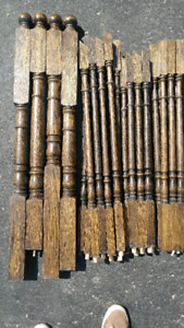 Solid Oak Newel Posts and Ballusters / Spindles