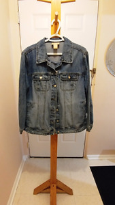*REDUCED AGAIN* COTTON GINNY denim jacket sz.1X $20 RARELY WORN!