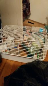 Cage à lapin et accessoires