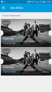 Billets pour Green Day!