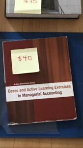 Cases and Active Learning Exercises in Managerial Accounting