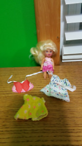 Barbie's sister Kelly doll & clothes