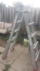 Featherlite Jaws Multi Adjustable Aluminum Ladder