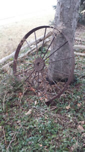 2 Antique wagon wheels for sale