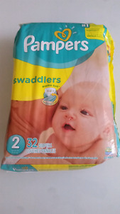 Pampers Swaddlers Size 2 32 diapers unopened