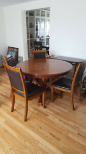 QUICK SALE-Diningroom table(solid wood) and 4 chairs-$350 OBO