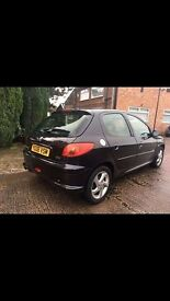 Peugeot 206 1.6 sport black with alloys