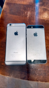 IPhone 6 and IPhone 5S for parts (AS IS)