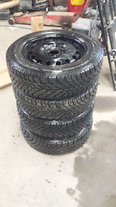 Winter Tires and Rims (4 Bolt) for Ford Fiesta