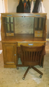 Wooden computer desk with chair for sale