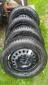 235 60R/18 Bridgestone Blizzak Snow tires on steel rims
