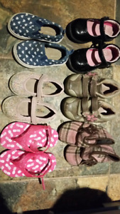 Girls shoes and sandals - variety - size 5