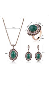 High quality 3 layers gold plated zircon necklace/Earrings/ring