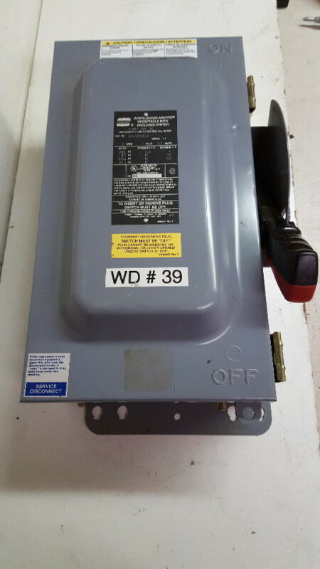 Crouse Hinds WSRD6352 Arktite Disconnect Switch 60 Amp 4 Pole 3R
