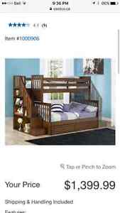 Twin over Double Espresso BunkBed