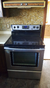 Stainless steel stove and matching dishwaher