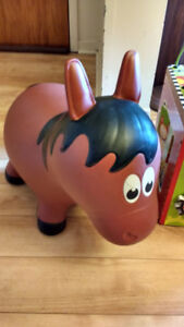 Inflatable bouncy horse 15$ like new