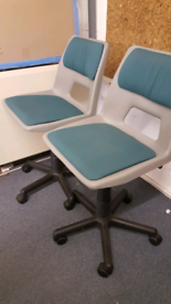 Height adjustable School Swivel Chairs Plastic, 4 chairs available