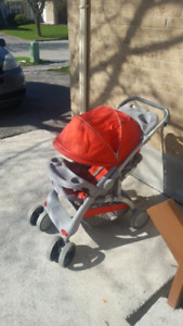 Red single stroller for sale