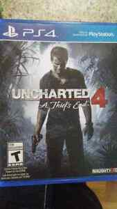Uncharted 4 in perfect condition asking $50 or trade Kitchener / Waterloo Kitchener Area image 1