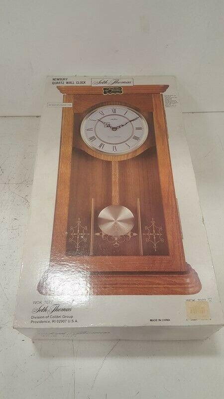 Seth Thomas Newbury Quartz Wall Clock Wok 7077 - NEW in box
