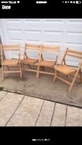 Folding Wooden Chairs Peterborough Peterborough Area image 1