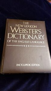 Dictionary/Encylopeidia  1200+ pages  Websters. $5
