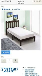 Solid wood twin bed for sale
