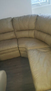 Large leather sectional...with leather ottoman Gr8 deal !!