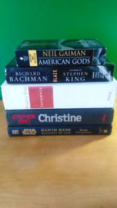 Sélection de romans (Stephen King, Neil Gaiman, Star Wars)